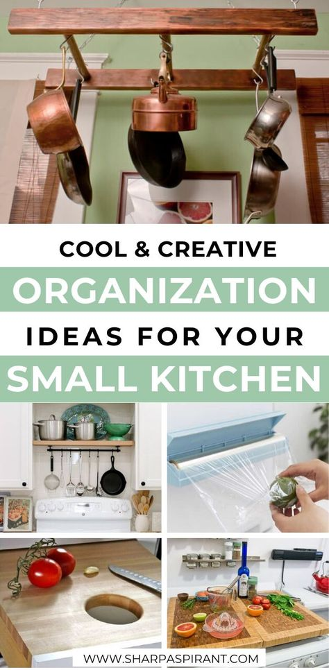 These awesome small kitchen storage ideas will help you maximize space! Check these out so you can have a calm cooking space for real! #kitchenideaswhite #kitchenideasapartment #kitchenideasdarkcabinets #kitchenideasdream #kitchenideasremodeling #rustickitchenideas