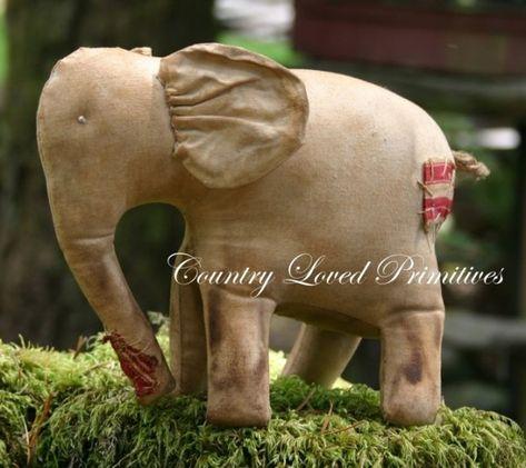 Ellie - primitive elephant $6.50