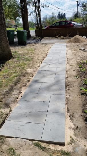 Nantucket Pavers Patio On A Pallet 12 In X 24 In And 24 In X 24 In Tan Variegated Basketweave Yor Patio Pavers Design Concrete Paver Patio Backyard Walkway