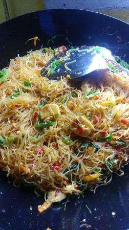 Resep Mie Hun Goreng Oleh Maya Reviana Resep Resep Masakan Resep Makanan Cina Masakan Asia