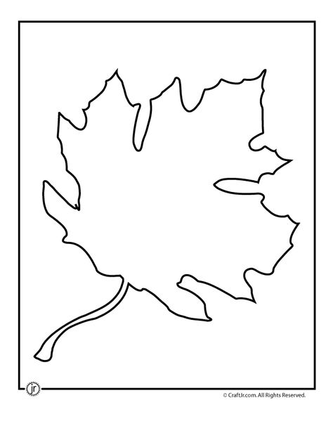 Pumpkin leaf pattern Use the printable outline for crafts - leaf template for writing
