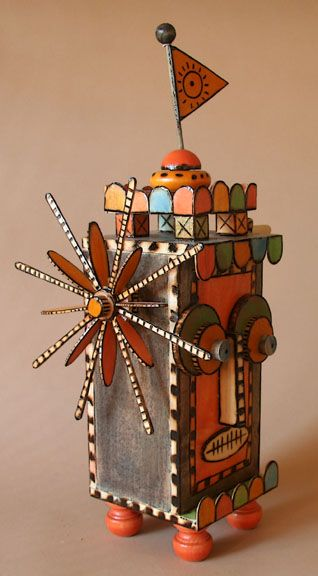 Kinetic Wooden Sculpture...Private collection:  Mililani, Hawaii