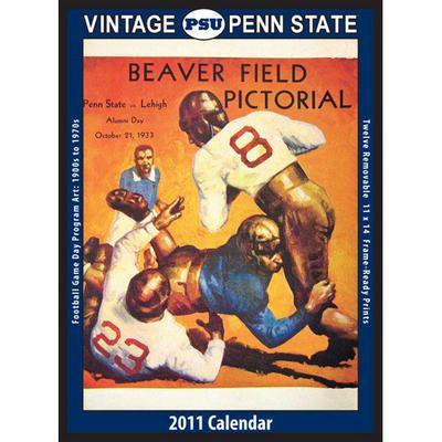 Vintage Psu Football Wall Calendar Football Calendar Byu