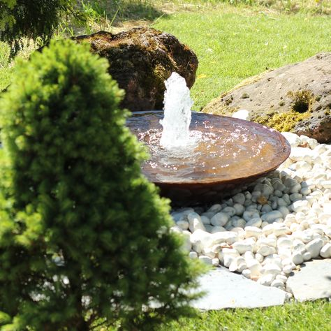 Cortenstahl Wasserschale 80 Springbrunnen Garten Gartenbrunnen Brunnen Garten