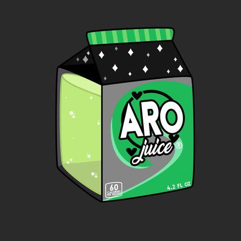 "Aro Juice Sticker by Rexuality - White - 3""x3"""