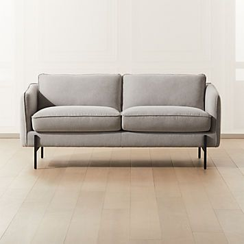 Midtown Linen Sofa Reviews In 2020 Love Seat Grey Leather
