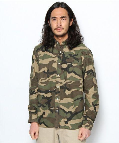 商品詳細 - BEAMS PLUS / オックスフォードボタンダウンシャツ(Camouflage) / BEAMS PLUS(ビームス プラス) ビームス公式通販サイト BEAMS Online Shop