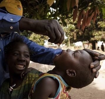 Chad, 2011: Immunization programmes by UNICEF and its partners save more children from disease than any other public health intervention. Since 2000, measles vaccinations have cut under-five deaths from this disease by 74 per cent. The world is also closer than ever before to eradicating polio everywhere. World Immunization Week – 21–28 April 2012 – calls for sustaining this commitment to reach even the most marginalized children. Vaccinating against polio, in Logone Occidental Region.