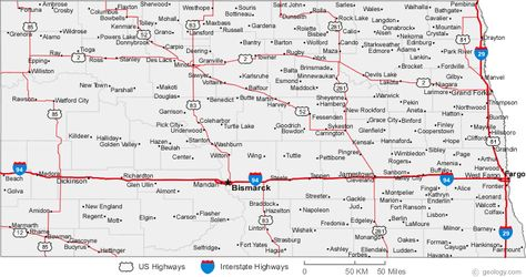 Map Of North Dakota Cities NORTH DAKOTA Pinterest North - North dakota road map with cities