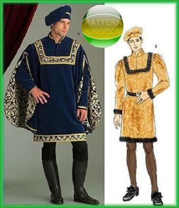 The 385 best Mens Medieval Renaissance Costume Patterns images on ...