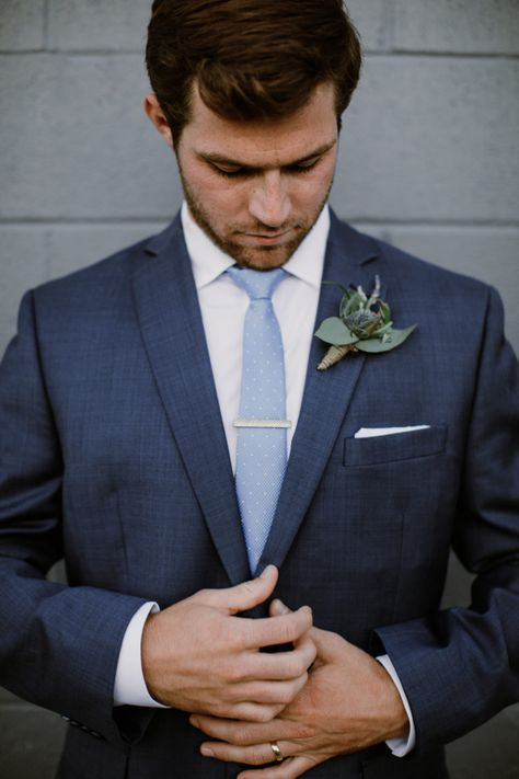 b09649072f00 St. Louis intimate and timless wedding | Mens wedding suit ideas | Blue  groomsmen, Groomsmen suits, Wedding suits