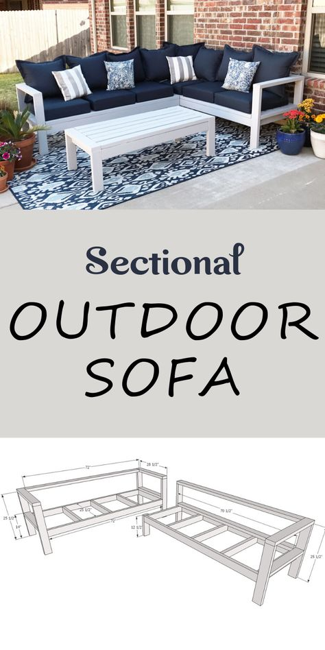 One Arm Outdoor Sofa - Sectional Piece Outdoor Furniture Plans, Diy Garden Furniture, Diy Furniture Projects, Furniture Design, House Furniture, Sofa Furniture, Building Furniture, Painted Furniture, Simple Furniture