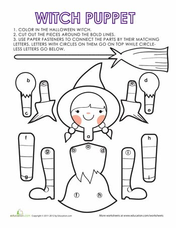 Your kids can make this cute witch paper doll when Halloween is just - best of halloween coloring pages 3rd grade