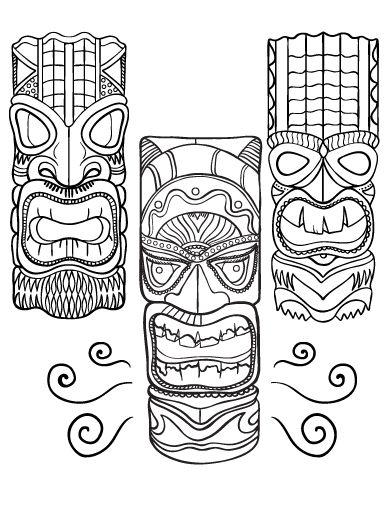 Las mejores 24 imágenes de Tiki de leo en Pinterest | Tótem tiki ...