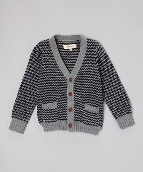 9e061c41be8b Look at this BARQUE Navy   Gray Cardigan - Toddler   Boys on  zulily ...