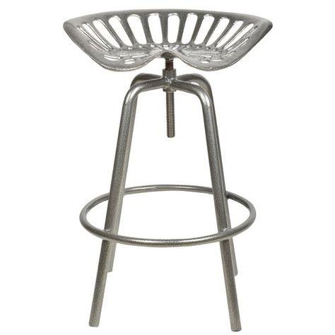 Barhocker Tevis Garten Living Farbe Grau Tractor Seat Stool