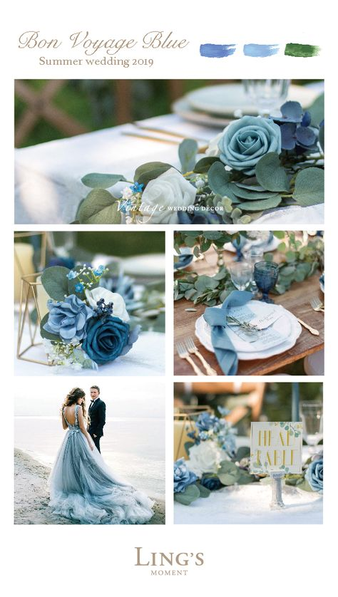 Blue Wedding - Beautiful blue wedding! Royal blue, dusty blue, blue for choice. Find 36 colors!