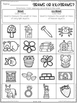 Metric Mass Grams And Kilograms Worksheets With Images