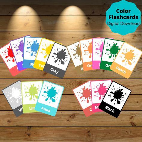 Read the full title Color Flashcards, Preschool Activity Homeschool - Education Printable, Montessori Materials, Online Resources - DIGITAL DOWNLOAD