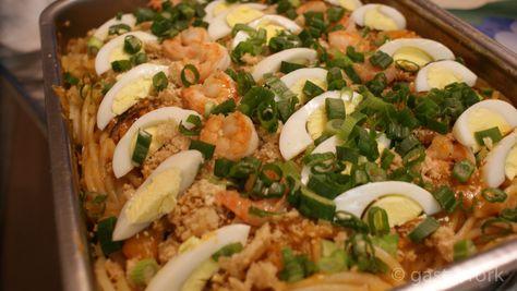 Pancit Palabok Filipino Noodles Recipe! Easier than it looks, I promise!