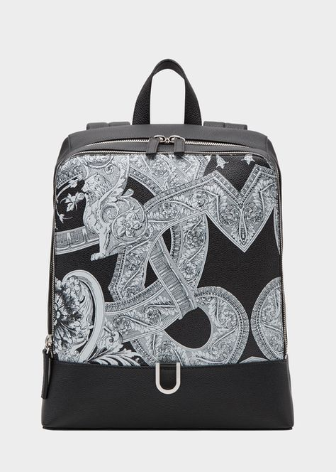 c4b3ead5eb VERSACE Barocco Istante Leather Backpack. #versace #bags #leather ...