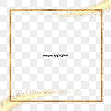 Borda Quadrada Dourada De Pincel Aquarela Rosa Quadrado Aguarela Escova Imagem Png E Vetor Para Download Gratuito Lettering Tutorial Certificate Design Template Certificate Design