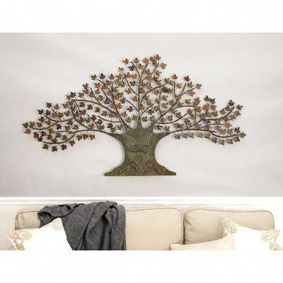 Larissa Dragonfly 4 Piece Set Tree Wall Decor Metal Tree Wall Art Metal Tree
