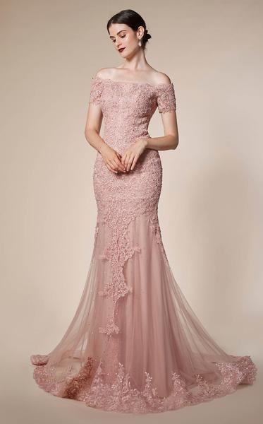 Andrea And Leo A0587 Dress Designer Evening Dresses Long Sleeve Flowy Dresses Evening Dresses Elegant