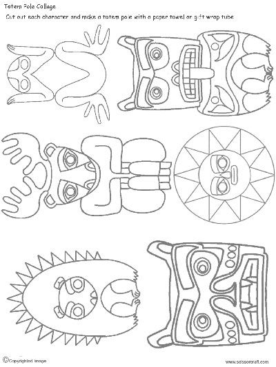 image about Totem Pole Template Printable named Rosemary Hale (hale2752) upon Pinterest