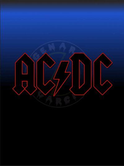 AC//DC Schweißband Logo