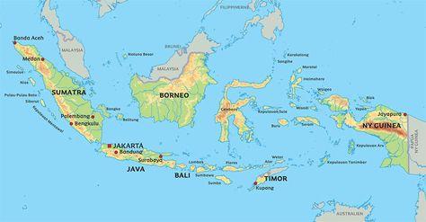 Essensen Af Bali Kort Indonesien Jakarta