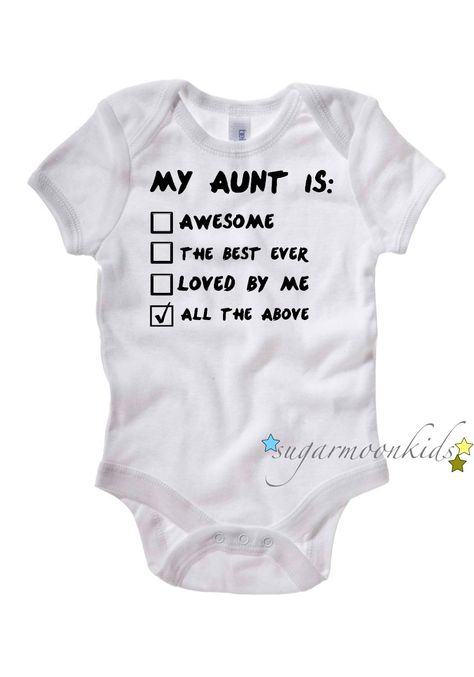 Aunt Baby Onesie. $17.00, via Etsy.... @Dana Curtis Curtis Curtis McLaughlin , @Whitney Clark Clark Clark Gaouette