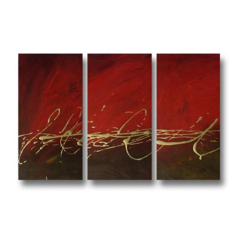 3 Canvas Abstract Painting #236