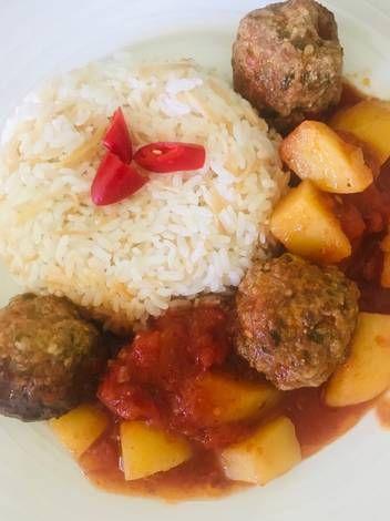كرات اللحمه والبطاطا بالصلصة داوود باشا بالصور من Alaa Alkhateeb Recipe Food Grains Rice