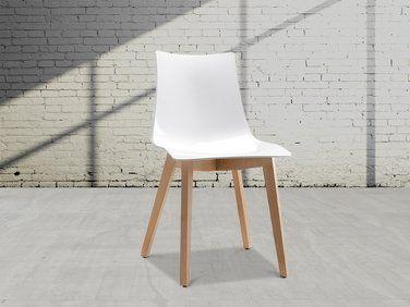 Chaise de salle à manger blanc Natural Zebra | Chaise de