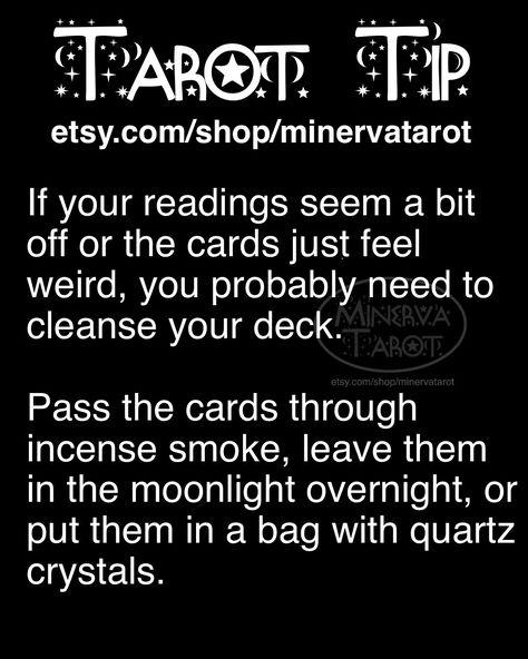 This is a PSA from Minerva Tarot: always remember to cleanse your deck! 🔮#tarot #tarotreading #tarottshirt #witch #witchcraft #witchfashion #tarotfashion #tarotcard #tarottip #tarotreader #mystical #halloween #fall #autumn #learntarot