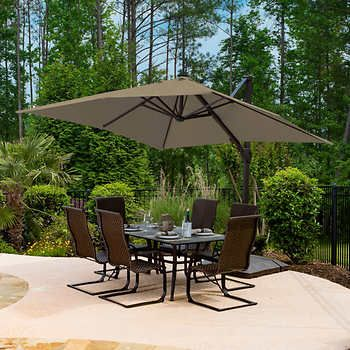 Seasons Sentry 3 05 M 10 Ft Square Cantilever Umbrella Cantilever Umbrella Patio Umbrella