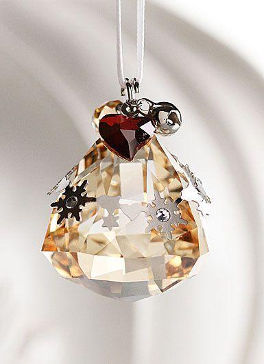 Swarovski Christmas 2019 Swarovski Holiday Bell Ornament, Crystal Golden Shadow, 2012