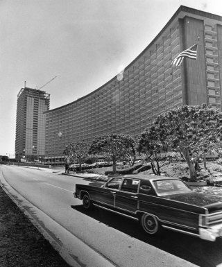 The Century Plaza Hotel construction started in 1963 and was opened in 1966 for business.