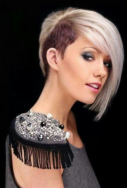 Bob Cut With Shaved Side Hairstyles For Women