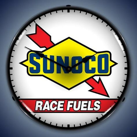 Sunoco Race Fuels Backlit Clock
