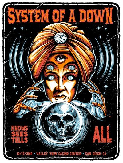 Image of System of a Down San Diego Posters
