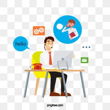 Customer Service Telephone Office Scene Book Element Stool Png Transparent Clipart Image And Psd File For Free Download In 2021 Cartoon Styles Poster Background Design Business Illustration
