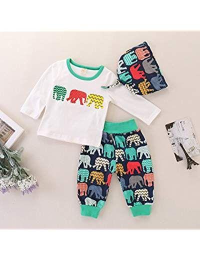 Baby Boys Dinosaur Printed Swim Jumpsuit Little Boys Swimwear 3PCS Sets
