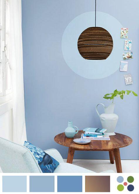 Rincón con Paleta color azul mediterráneo
