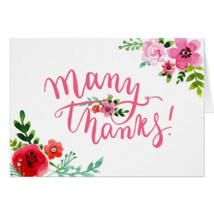 Floral Thank You Greeting Card Flowers Floral Flower Design Unique Style Floral Gifts Thank You Greetings Love Cards