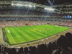 A Packed Out Football Stadium Worlds Of Fun Wembley Premier League