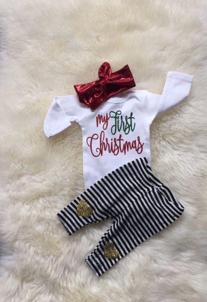 bd648266f Mud Pie My First Christmas Kimono Sleeper (Infant)  ad