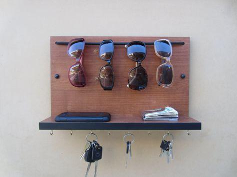 cd82358c5103 Sunglass Rack Organizer Key Holder and Shelf Custom Combo