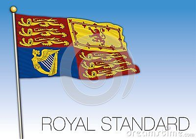 Royal Standard Flag And Symbol Scotland United Kingdom Vector Illustration In 2020 Royal Standard Flag Flag Vector Illustration